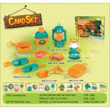 Boutique Playhouse Plastic Toy-Camping Set with 10 Accessories
