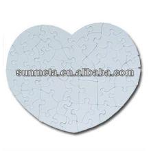Hot Selling DIY Presente De Fornecedor De China White Sublimation Printable Puzzle Jigsaw