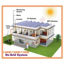 Unidad completa 13kw / 15kw / 17kw Sistema Solar Grid Tie