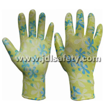 Polyester Knitted Work Glove with Smooth Nitrile Dipping (N1561)