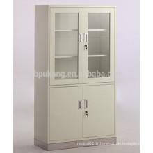 Armoire à 4 portes avec base en acier inoxydable
