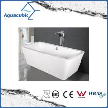 Bathroom Square Acrylic Free-Standing Bathtub (AB1514W)