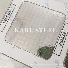 410 Edelstahl Silber Farbe geprägt Kem006 Blatt