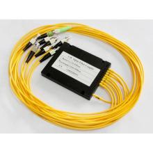 1x8 módulo de divisor de fibra óptica plc de baja pérdida de inserción con conector FC