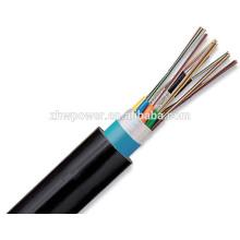 Fibra óptica ao ar livre blindada cabo GYTA, cabo de fibra óptica blindada de queda de 12 núcleos