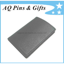 Caixa de cartão de couro preto sem logotipo