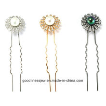 Новый дизайн 925 Серебряный пользовательских родий Hairpin (H0003)