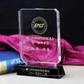 Troféu novo feito sob encomenda do prêmio do cristal do vidro para o presente da lembrança do negócio