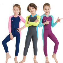 Kids One Piece Long Sleeve Swimsuit