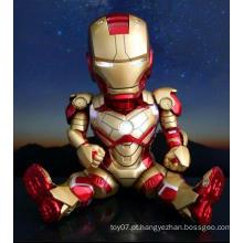 Movable conjunta personalizado PVC figura de ação ferro Doll Man brinquedos