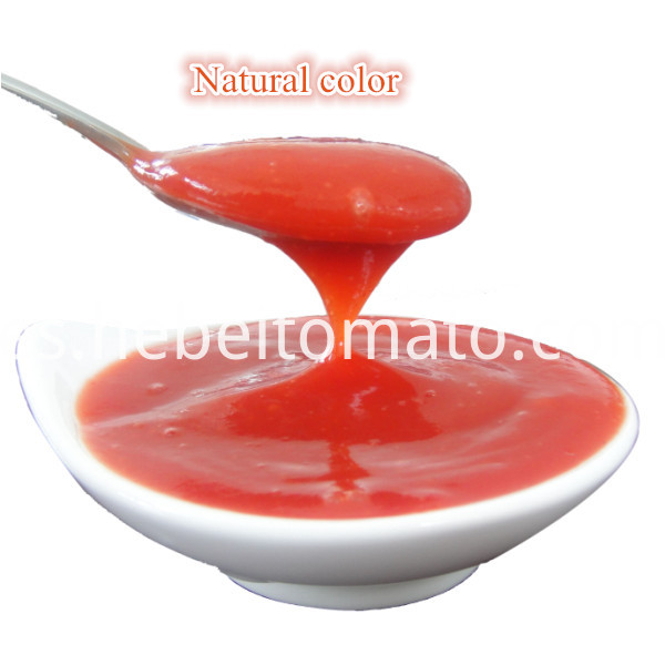 Natural color tomato ketchup
