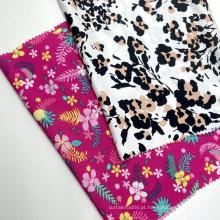 Múltiplos designs bonitos em tecido viscose padrão personalizado tecido 100% rayon impresso para roupas de senhora
