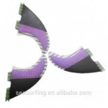 half carbon design purple color new quarter model Hex fcs 5g fins wholesale