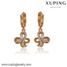 92897 xuping 18k gold plated fancy wholesale charm earring for christmas gifts