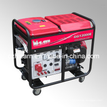 8kw Air-Cooled Two Cylinder Open Gasoline Generator (GG12000E)