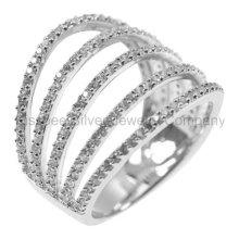 Bague à bijoux en argent sterling à la mode (KR3098)