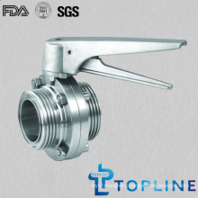 Stainless Steel Sanitary Butterfly Valve (with Stainless Steel Multi-position handle)