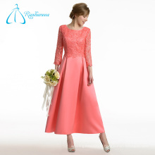 Satin Lace A-Line à manches longues Mère des robes de mariée