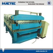 High speed double layer sandwich panel roll forming machine