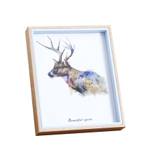 Wholesale Wood picture frame 3d wall hanging 6*6 8*8inches White shadow box frame