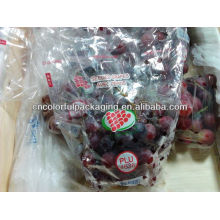 Saco de uva de plástico / saco perfurado / slider Ziplock Grape Bag