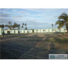 Casa de campo prefabricada Casa de campo modular Buena aislamiento Prefab de bajo costo (shs-fp-camping004)