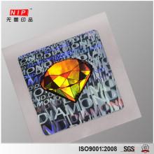 cheap die cut hologram sticker sheet for seal packaging