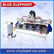 Ele2015 Cheap Price CNC Wood Machinery for Wood Carving with 4 Set Rotary Device