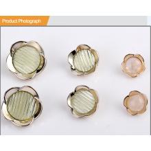 Цветочная форма UV Plating Resin Button BA60375