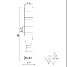 многофункциональный сигнальный мачтовый фонарь
