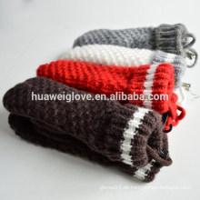 Einzelne Farbe Basic Winter Damen Handschuhe 100% Wolle Handschuh Fäustlinge