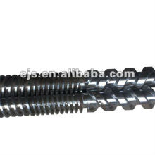 bimetálico contador paralelo rosca dupla para a máquina de extrusão de PVC de giro