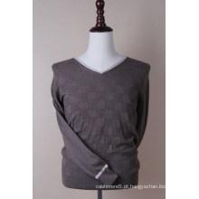 Cashmere clássico masculino V Neck Pullover