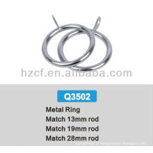 Q3502 metal poles for curtains rod, curtain accessories suppliers, plastic rings for curtains