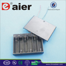 Daier 6 aa battery holder with cover 9v battery holder