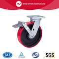 Heavy 8 Inch 800Kg Plate Freio TPU Caster