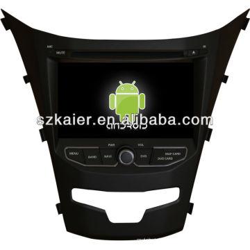 USINE! 4.2.2 version système Android dvd de voiture pour 2014 Ssangyong Korando