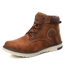 Bottes d'hiver décontractées pour hommes, chaussures chaudes en fourrure