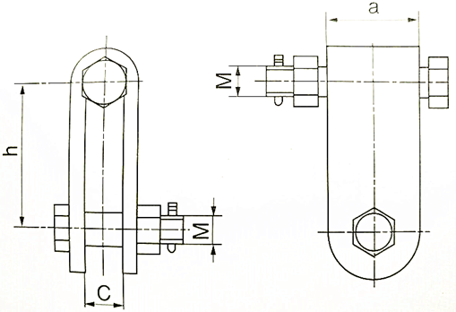 Clevis for Line Hardware Fitting