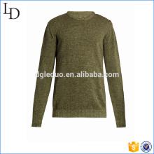 Shoulder button fastening Knit sweater men pullover design