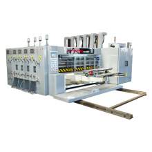 Automatic 4 colors flexo corrugated cardboard printing slotting die-cutting packing machinery