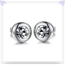 Joyería de moda joyería de cristal pendiente de acero inoxidable (EE0063)