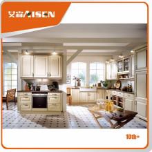 Nuevo diseño para el mercado Gabinete de cocina con lámina térmica de PVC