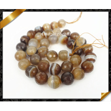 Faceted Round Agate Strand, Hot Sale Fashion Stone Jewelry Bead (AG007)