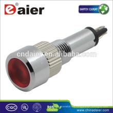 Daier GQ8H-D 8mm lámpara de señal piloto de metal lámpara de señal