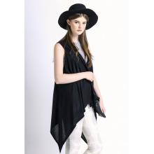 Леди мода хлопок Мерсеризованный вязаная шаль жилет (YKY2035)
