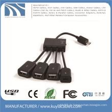 4 in 1 Micro USB OTG Hub Host Kabel Adapter Multi Kabel Für Samsung / Tablet