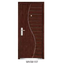 Expert Supplier Steel Wooden Door (WX-SW-107)