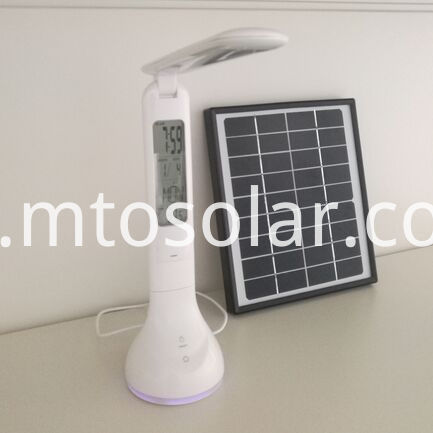 Folderable solar desk lamp
