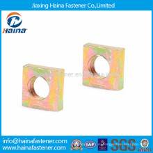 Высококачественная цветная оцинкованная углеродистая сталь с квадратной тонкой гайкой